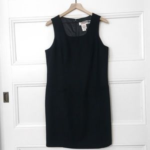 Flattering Soft Wool Black Dress EUC